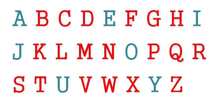 Das englische Alphabet - große Buchstaben