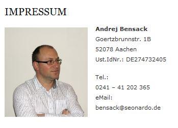 Impressum - Adresse